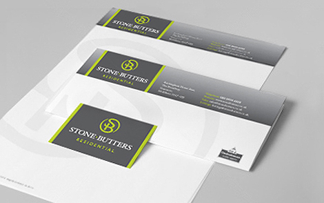 Stone Butters Estate Agent Stationery Design